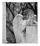 Graceland Cemetery Angel Fleece Blanket