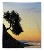 Lonely, Loutro, Chania, Crete, Greece Fleece Blanket