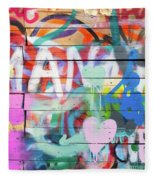 Graffiti 4 Fleece Blanket