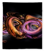 Graffiti Abstract Fleece Blanket