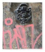 Graffiti Door Knocker Fleece Blanket