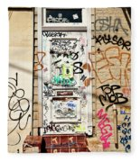 Graffiti Doorway New Orleans Fleece Blanket