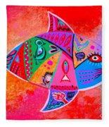 Graffiti Fish Fleece Blanket
