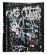 Graffiti Greenwich Village Fleece Blanket