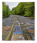 Graffiti Highway, Facing North Fleece Blanket