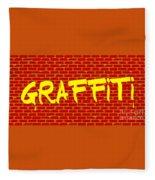 Graffiti Red Wall Fleece Blanket