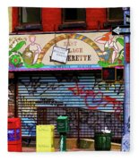 Graffiti Village Store Nyc Greenwich  Fleece Blanket
