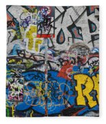 Grafitti On The U2 Wall, Windmill Lane Fleece Blanket