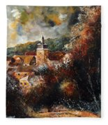 Graide Village Belgium Fleece Blanket