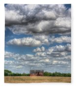 Grain Barn And Barley Field Fleece Blanket