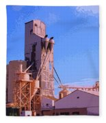 Grain Elevator Fleece Blanket