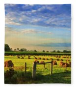 Grain In The Field Fleece Blanket