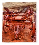 Grain Sack Loader Fleece Blanket