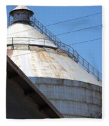 Grain Silo In Roswell Fleece Blanket