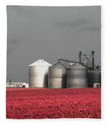 Grain Storage Infrared No1 Fleece Blanket