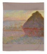 Grainstack, Sunset Fleece Blanket