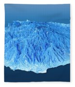 Gran Canaria Topographic Map 3d Landscape View Blue Color Fleece Blanket