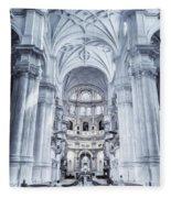 Granada Cathedral Interior Fleece Blanket