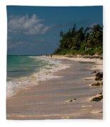 Grand Bahamas Beach Fleece Blanket