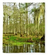 Grand Bayou Swamp Fleece Blanket