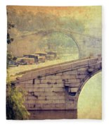 Grand Canal Bridge Suzhou Fleece Blanket