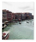 Grand Canal Venice Italy Fleece Blanket
