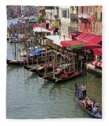 Grand Canal, Venice, Italy Fleece Blanket