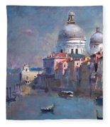 Grand Canal Venice Fleece Blanket