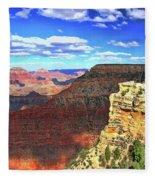 Grand Canyon # 22 - Mather Point Overlook Fleece Blanket