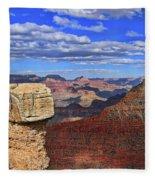 Grand Canyon # 29 - Mather Point Overlook Fleece Blanket