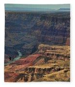 Grand Canyon Colorado River II Fleece Blanket