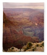 Grand Canyon In The Spring Fleece Blanket