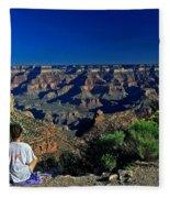 Grand Canyon Meditation Fleece Blanket