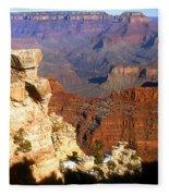 Grand Canyon National Park Arizona Panorama Fleece Blanket