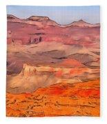 Grand Canyon National Park Summer Fleece Blanket