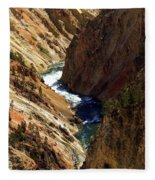 Grand Canyon Of The Yellowstone 1 Fleece Blanket