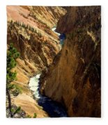 Grand Canyon Of The Yellowstone 2 Fleece Blanket