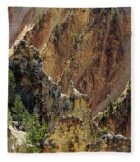 Grand Canyon Of The Yellowstone From North Rim Drive Fleece Blanket