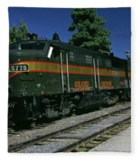 Grand Canyon Railway Train Fleece Blanket