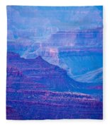 Grand Canyon Sunny Day With Blue Sky Fleece Blanket