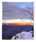 Grand Canyon Sunset Fleece Blanket