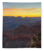 Grand Canyon Twilght Fleece Blanket