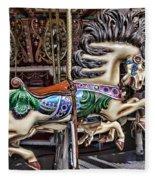 Grand Carousel Hourse Fleece Blanket