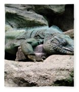Grand Cayman Blue Iguana Fleece Blanket