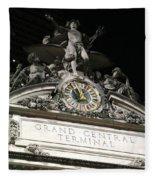 Grand Central Station New York City Fleece Blanket
