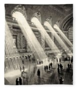 Grand Central Terminal, New York In The Thirties Fleece Blanket