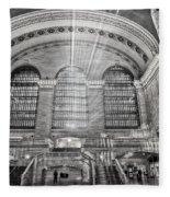 Grand Central Terminal Station Fleece Blanket