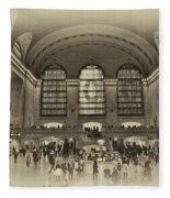 Grand Central Terminal Vintage Fleece Blanket