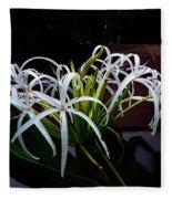 Grand Crinum Lily Fleece Blanket