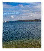 Grand Harbor On Lake Superior Fleece Blanket